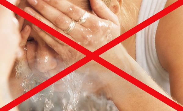 Запрет на умывание горячей водой