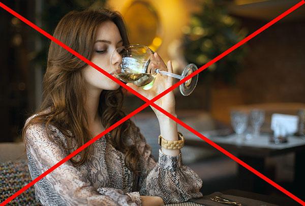 Предостережение на употребление алкоголя перед ботулинотерапией